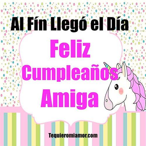 Pony con mensaje de cumpleaños
